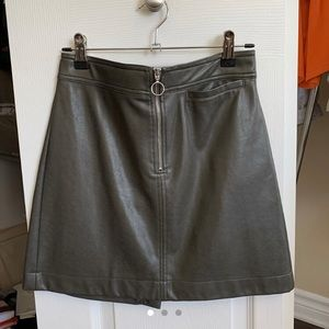 Wilfred Free vegan leather taupe Roxanne skirt